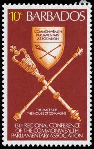 Barbados - Scott 459 - Mint-Hinged - Long Perforation Teeth