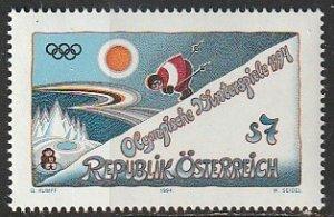 1994 Austria - Sc 1636 - MNH VF - 1 single - Lillehammer Winter Olympics