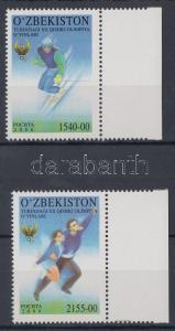 Uzbekistan stamp Winter Olympics, Torino margin set MNH 2006 Mi 613-614 WS119765