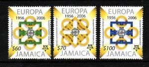Jamaica-Sc#1013-15-Unused NH set-Europa anniversary-2005-
