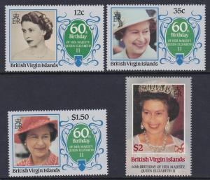 Virgin Islands 1986 QEII Birthday Scott (532-35) MNH