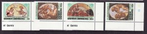 Grenada Grenadines-Sc#606-9-unused NH set-Paintings-Correggio-1984-