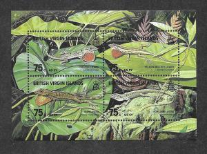 Virgin Islands Mint NH Souvenir Sheet Flora Fauna Lizards!