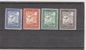 Zanzibar  Scott#  218-221  MH  (1944 Al Busaid Dynasty)
