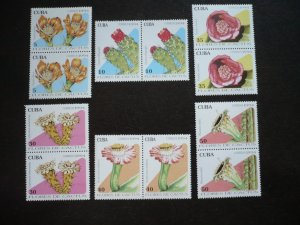 Stamps - Cuba - Scott# 3586-3591 - MNH Set of 6 stamps in Pairs