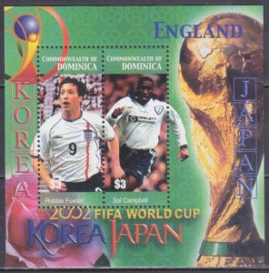 2003 Dominica 3436-37/B479 2002 FIFA World Cup in Japan and Korea