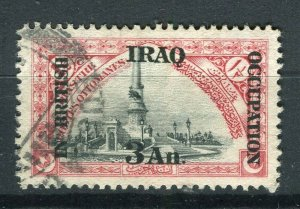 IRAQ; 1918 early British Occupation Optd. issue used 3a. value