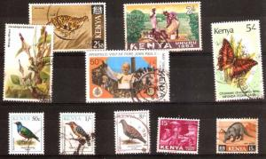 LOT Nr 127 KENYA  BRITISH COLONIES 10 STAMPS OLD AND MODERN