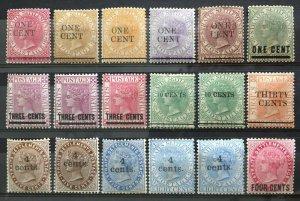 Malaya Straits Settlement 1885-99 QV 18V Variety of Overprints MINT M3011