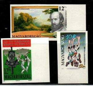 Hungary Scott 3294,3301,3302 Mint NH imperf (Catalog Value $27.00)