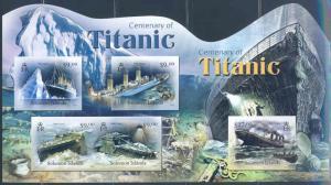 SOLOMON ISLANDS 2012 100th ANNIVERSARY SINKING OF THE TITANIC MASTER SHEET IMRF