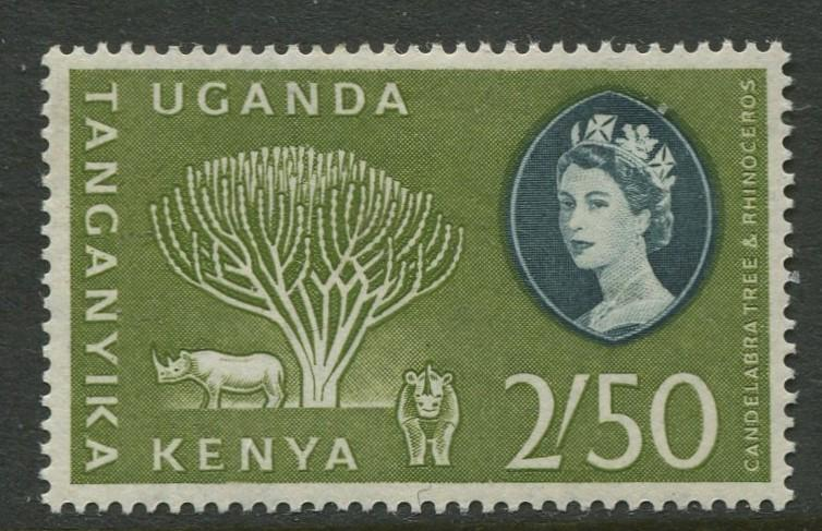 Kenya Uganda - Scott 132 - QEII Definitive -1960 - MLH - Single 2/50 Stamp