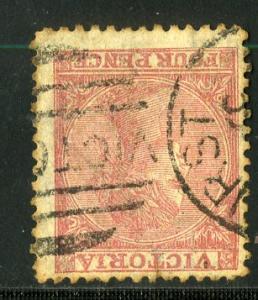 VICTORIA #91 USED SCV $9.50 BIN $4.00 WMK DOUBLE LINE 4