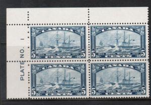 Canada #204 Mint Fine - Very Fine Never Hinged Plate #1 UL Block
