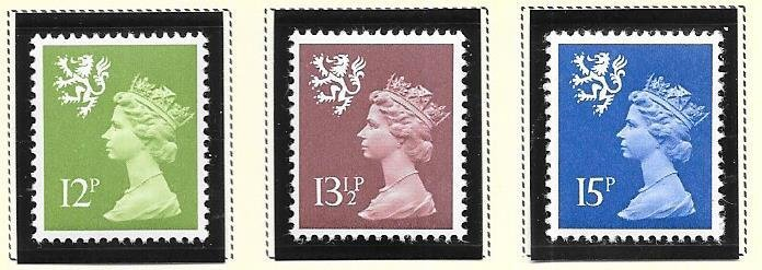 Great Britain-Wales & Monmouthshire # WMMH17,22,25 (MNH) $1.90