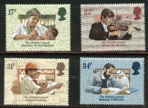 Great Britain Scott 1067-70 MNH** 1984 British Council set
