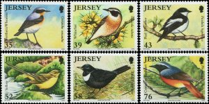 Great Britain Jersey 2008 Sc 1342-1347 Birds Wheatear Whinchat Wagtail CV $9.90
