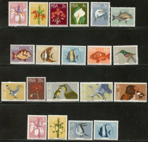 SOUTH AFRICA Sc#408-423, 430-433 1974 Nature Defins Complete w/ Coils OG Mint LH