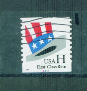 US Sc# 3265 Used FVF Sgl Pl# 2222 H Rate Flag Top Hat