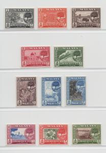 Malaya Malacca - 1960 - SG 50-60 - MNH