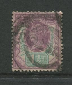 STAMP STATION PERTH: Great Britain  #112  Used 1887 Single 1.1/2p Stamp