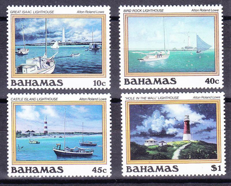 Bahamas 1987 Alton R. Lowe Lighthouse Paintings Complete VF/NH(**)