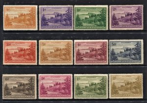STAMP STATION PERTH Norfolk Island #1-12 Ball Bay Definitive Set MVLH- CV$16.00