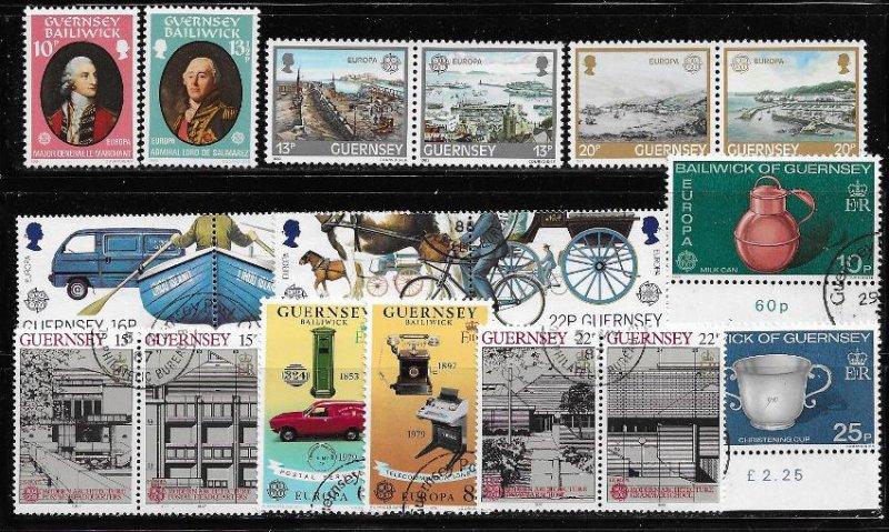 -Guernsey 135-36, 261a-63, 207-08 349a,351a 382a,384 m/u 2017 SCV $10.70 - 19689