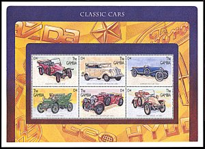 Gambia 1746, MNH, Classic Cars miniature sheet of 6