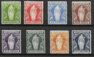 VIRGIN ISLANDS SG43/50 1899 DEFINITIVE SET MTD MINT