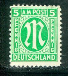 Germany AM Post Scott # 3N4a, mint nh, variation