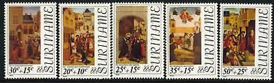 Surinam B226-30 MNH Art, Paintings, Dogs, Easter