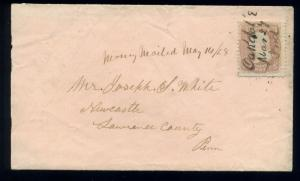 Scott #85 Washington D-Grill  Used Stamp on Cover w/Crowe Cert  (Stock #85-28)