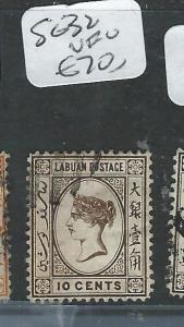 LABUAN   (P0108B)  QV   CAMEO  10C   SG  32   VFU