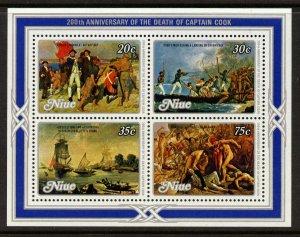 Niue 254a MNH Captain Cook, Ships