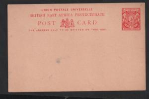 British East Africa QV 1A UPU unused postscard H&G#8 WS13284