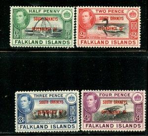 Falkland Islands lot, Mint No Gum. A19
