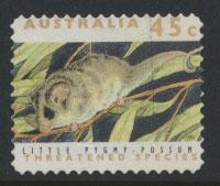 Australia SG 1330p  Used perf 11½ phospher band -Threatened Species - Possum