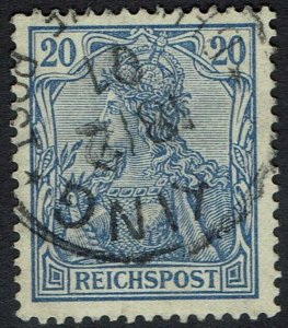 GERMAN PO IN CHINA 1900 REICHPOST 20PF WITH FIELD PO POSTMARK