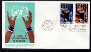 UN New York 263-264 Namibia Geneva U/A FDC