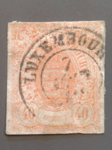 Luxembourg 12 F used. Scott $ 240.00