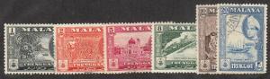 Malaya-Trengganu - 1957 - SC 75-76,78-81 - Used/LH - 75,79 LH