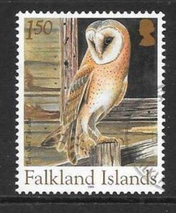 FALKLAND ISLANDS SG1000 2004 £1.50 OWLS FINE USED