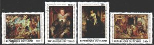 Chad. 1978. 835-38. Rubens, painting. USED.