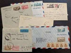 EDW1949SELL : LEBANON Interesting collection of 6 Early covers.