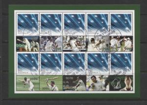 Australia - Scott 3313 - Souvenir Sheet of 10 + 10 Labels - 2010-CTO-