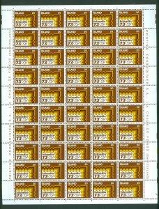 Iceland. Full Sheet Unfolded Mnh 1973  20 Kr   Islandia 73