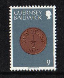 Guernsey  1979  MNH coins 9p.