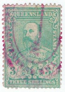 (I.B) Australia - Queensland Revenue : Stamp Duty 3/-