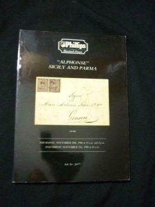 PHILLIPS AUCTION CATALOGUE 1986 ITALIAN STATES 'ALPHONSE' SICILY & PARMA